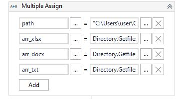 tutorial uipath_multiple_assign